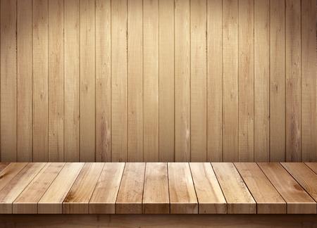 tabla de madera: mesa de madera sobre fondo de madera