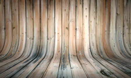 Curved wooden background