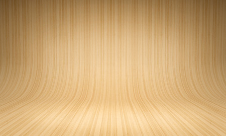 curved: Curved wooden background