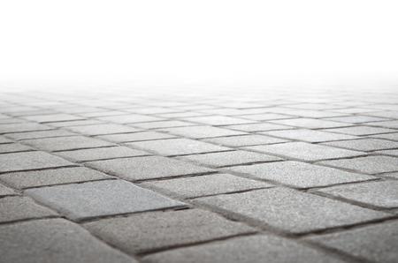 cemento: piso de baldosas de hormigón y el fondo blanco