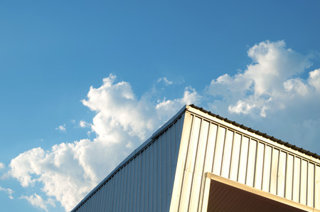 sheet metal: Abstract building and blue sky background