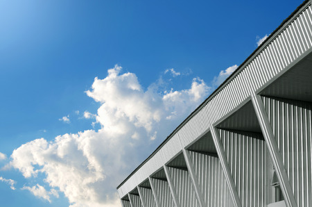 Abstract building and blue sky background