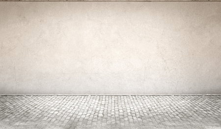 Betonnen muur en vloer achtergrond Stockfoto