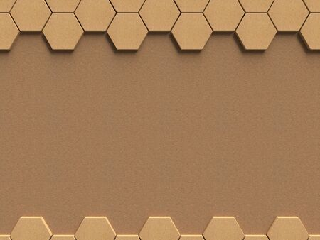wall paper: Paper texture hexagon pattern with background template for presentation, 3D rendering
