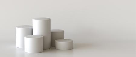 Empty podium on white background. 3D rendering. Фото со стока - 121408969
