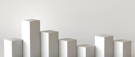 Empty podium on white background. 3D rendering. Фото со стока - 121408970
