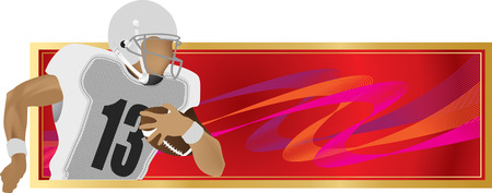 american football helmet collection: Sports banner of the player in the American football