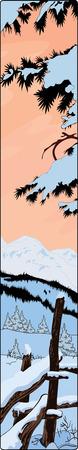 Mountain winter landscape Stock Vector - 4488441