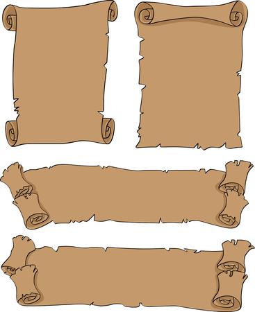 fragmentary: El conjunto completo de vectores viejos estandartes con bordes fragmentaria