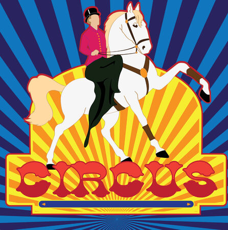 Vector illustration of the poster of circus in old style Vector