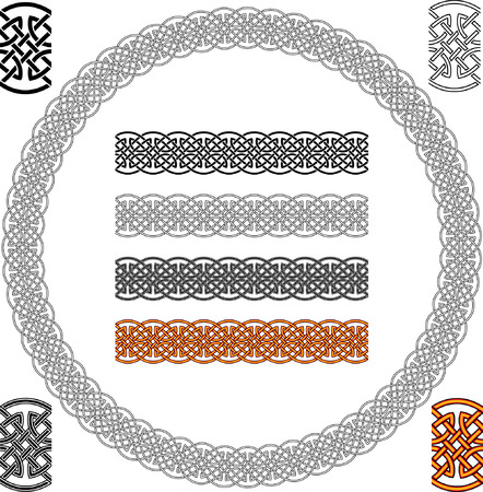 Celtic Abstract Texture Ornament - Seamless Background Vector Stock Vector - 4787047