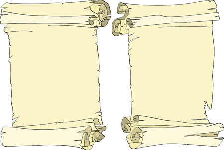 Two old rolls with the is strong-twirled edges Vector