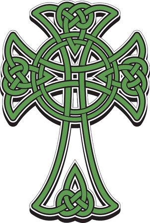 Het Keltisch kruis uit de met elkaar verweven regels