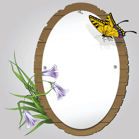 battu: Le papillon sur la feuille de papier battu sur une planche de cartes