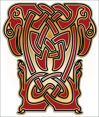 bird  celtic: Bird bound in a pattern in Old Russian, Celtic and Byzantian style