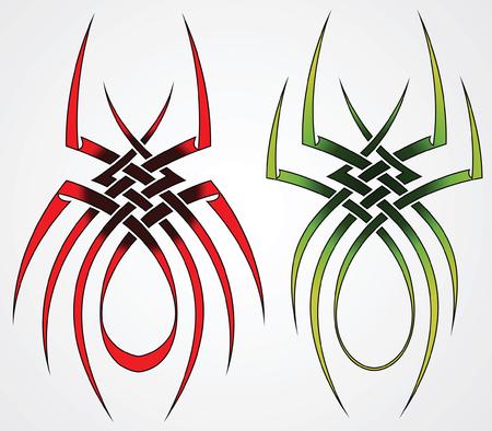 s�parateurs: Ensemble de mod�les d'araign�es pour les tatouages et le design Illustration