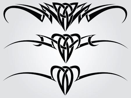 tribali: Utilizzano modelli di tatuaggio tribale per il design  Vettoriali