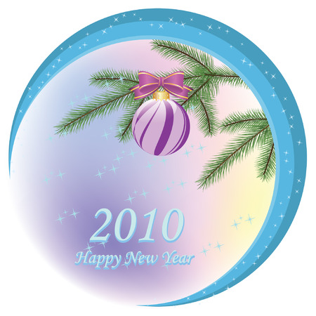 newyears: Vector greeting card - Happy Christmas And New-Years