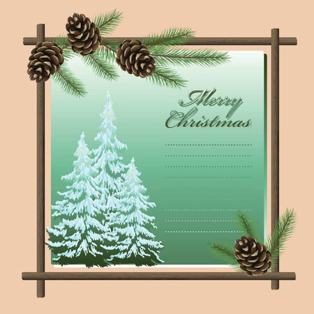 Vector greeting card - Happy Christmas And New-Year's Stock Vector - 5775879