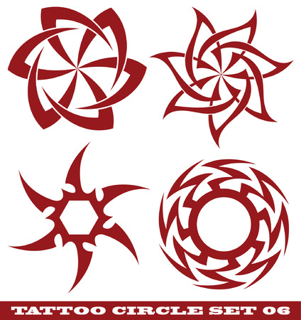 vector set: templates for tattoo and design in the form of the sun on different topics Stock Vector - 6079718