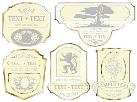 scottish flag: impostare: cornice oro etichette su diversi argomenti