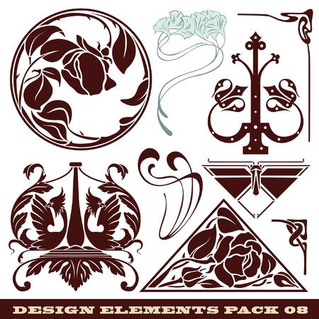 témata: set: elements for design on different topics
