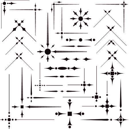 tendrils: Some vector decorative design elements & corners for registration