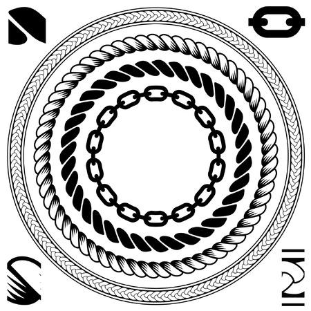 kreis: Kabel-Abstract Ornament - nahtlose Hintergrund Vektor  Illustration