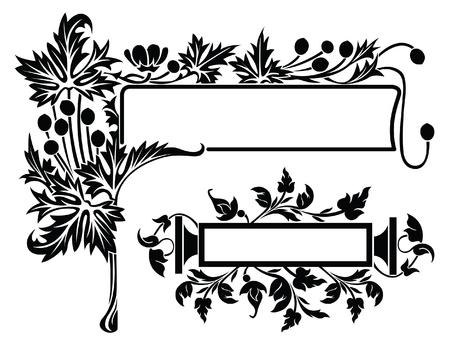Some decorative design flower elements for registration Vector