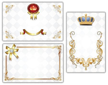 the topics: gold-framed labels and background on different topics