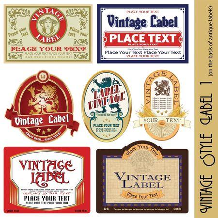 clock radio: etiqueta de estilo vintage (sobre la base de antig�edades de etiquetas)