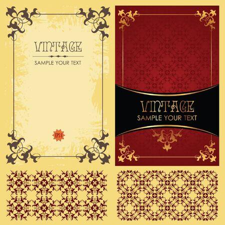 oval  alcohol: Vintage  set: framework, pattern and background