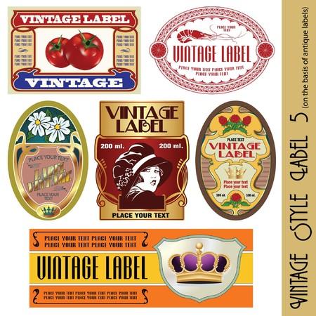 sticker label: vintage style label