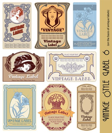 vintage style label Stock Vector - 7598930