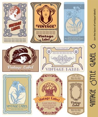 alcohol cardboard: vintage style label
