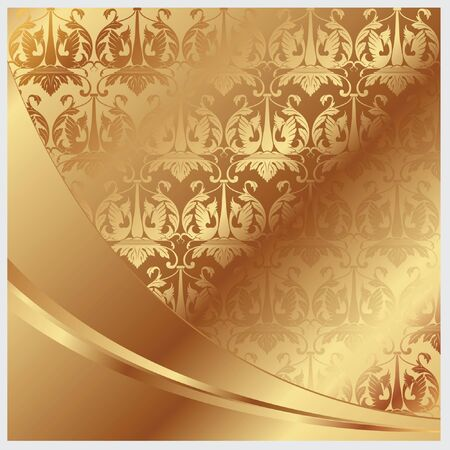 ancient scroll: Gold   background for decoration and design