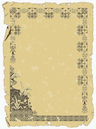 background with a border on the theme of Ancient Egypt Vector