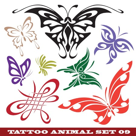 témata: templates butterfly for tattoo and design on different topics