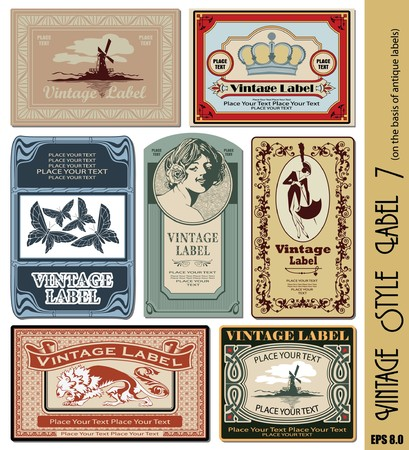 vintage style label Stock Vector - 7718680