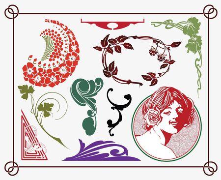 treasures of historical design - art-nouveau (based on original) Stock Vector - 7844863