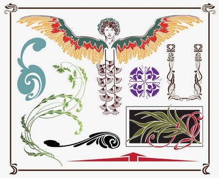 treasures of historical design - art-nouveau (based on original) Vector