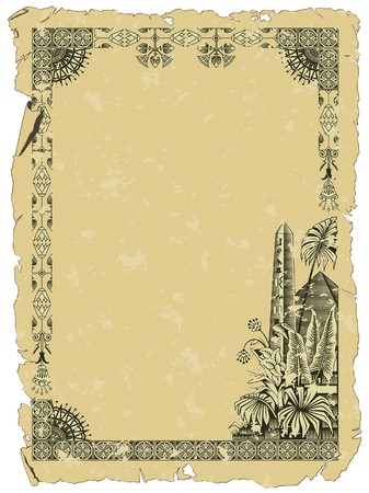 background with a border on the theme of Ancient Egypt