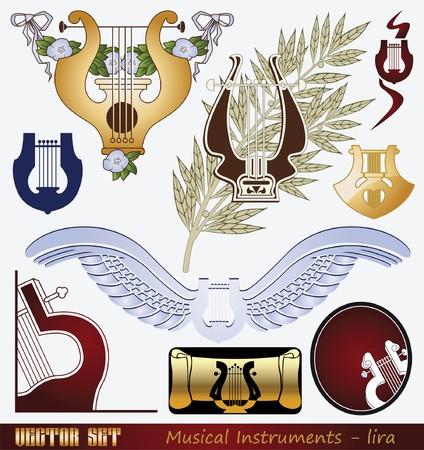 arpa: Instrumento musical - lira