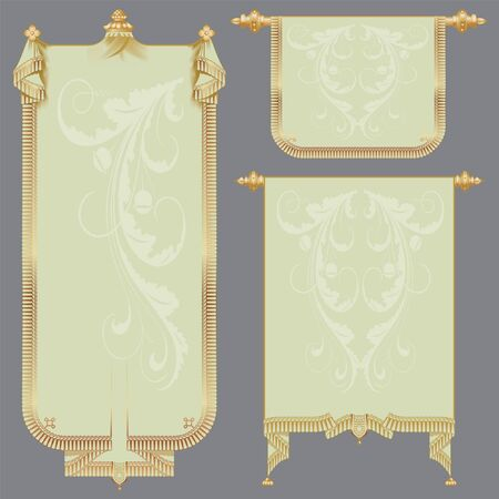 the ancient scrolls of gold for festive and luxury decoration Vector