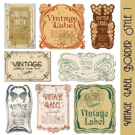 label: vintage stijl label