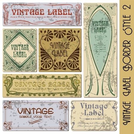 vintage style label Stock Vector - 7844933