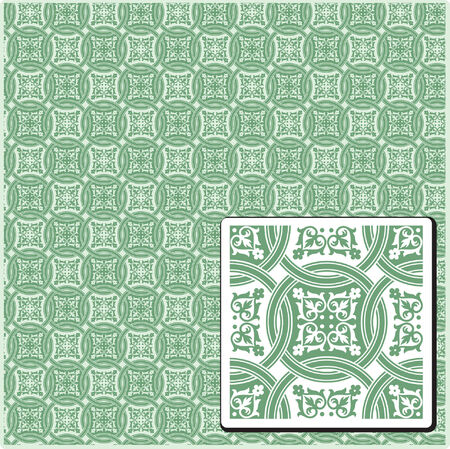 seamless plants pattern in vintage style Vector