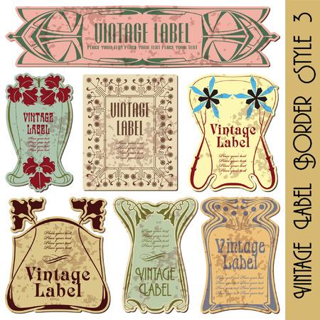 art product: vintage style label