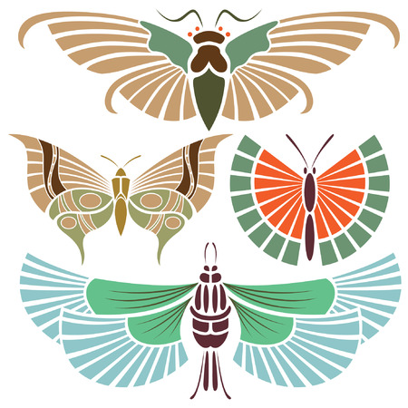Butterfly tattoo in the vintage style Vector