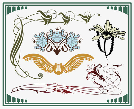 based: treasures of historical design - art-nouveau (based on original) Illustration